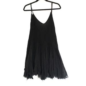 [FREEPEOPLE] Thin sheer distressed v-neck dress XS